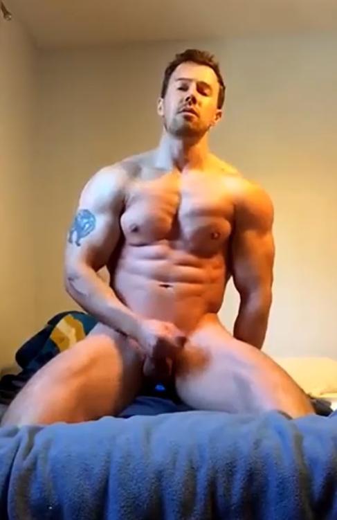 Army hunk masturbating and cumming